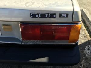 Peugeot 505 S Nameplate
