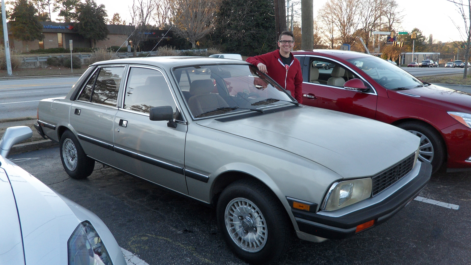 Me with the Peugeot 505 S
